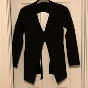 Open back blazer Size: Small